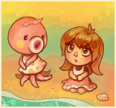 Animal Crossing - Beach by Louivi