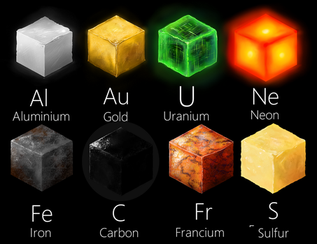 Periodic Table Elements Material Study Pt. 1 by Khrestos