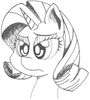 Confused Rarity by greyamoon