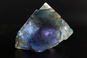 Blue and Purple Zoned Fluorite by bmah