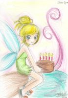 tinkerbell card by FioLoX