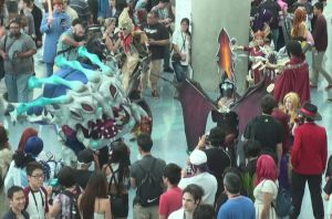 Kag'Maw and Atrax from League of Legends at AX2013 by trivto