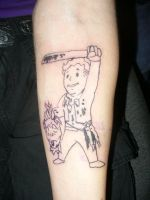 fallout tattoo by ravercandy