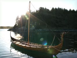 Viking Ship by Navanna