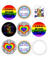 pride buttons by MiracleElixer