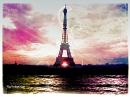 The Pink Eiffel by iria