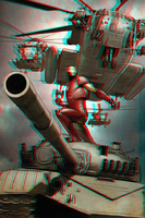 Iron Man in 3D Anaglyph 2 by xmancyclops
