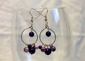 Rose Colored Pearl Earrings - FOR SALE by Thy-Darkest-Hour