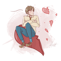 remus lupin: valentines day by Avender