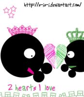 2 hearts 1 love by S-iS-i