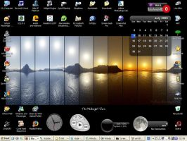Midnight Sun desktop by Loreleike