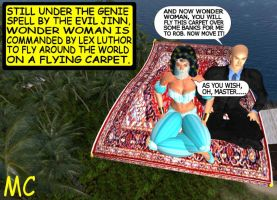 Genie Wonder Woman And The Magic Carpet by The-Mind-Controller