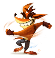 Daily Painting 727# - Crash Bandicoot RD by Cryptid-Creations
