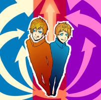 Kenny and Butters by Cheese3D