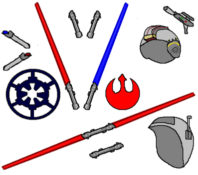Jedi and Sith Lightsabers and Stuffs by florapolitis