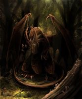 Dark forest by EagleRedbeak