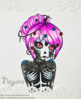 Skull Girl by Nay-Hime