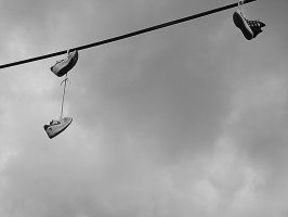 shoes in the sky by lostlandscape