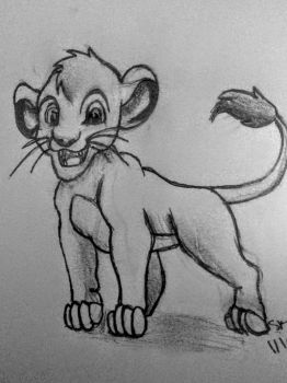 Simba (Lion king sketch) by SherBetIcy