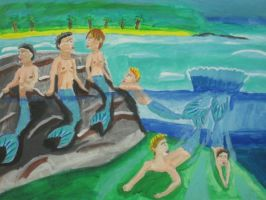 Spending a day with my mer brothers by Caharvey