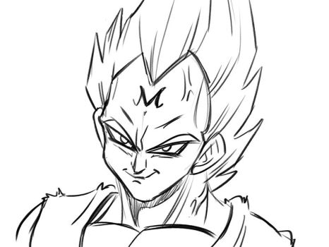 Warm-Up Majin Vegeta by Chauvels