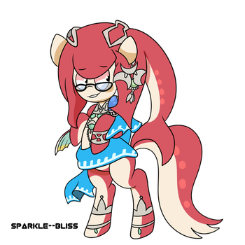 Mipha's Grace is Ready (RP A Cute Mipha Command) by Midnight-Devilwitch