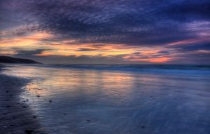 Painted Sky of Inverness Beach by EvaMcDermott