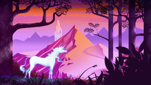 Unicorn Background for WildTangent Solitaire by Catwagons