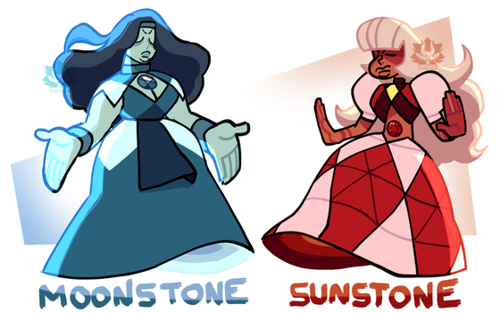 [A] - Moonstone and Sunstone (CLOSED) by FloofHips