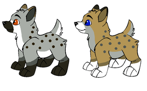 Crystal x Hunter Puppies for Dawntigeress by Twine-Adopts
