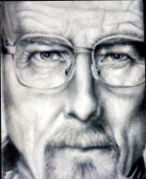 Walter White - Graphite Portrait by supersonicartdrawer