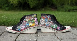 Nintendo All-Stars Converse by durpface0