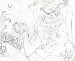 Mad Hatter - Pencil by Andrex91