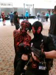 Weapon-X Deadpool and Miles Morales Spider-Man by Deadfish-Comics