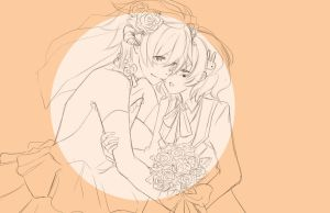Wedding WIP by BottleWonderland