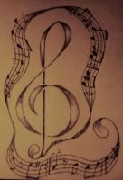 Music Note Tattoo by Dartedrose