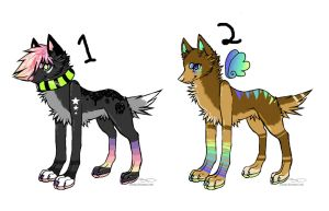 Sparkle Wuff Adopts :3 by WolvesDestinyBlood