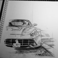 Ferrari F12 Berlinetta drawing [unfinished] by KJVtheBeast