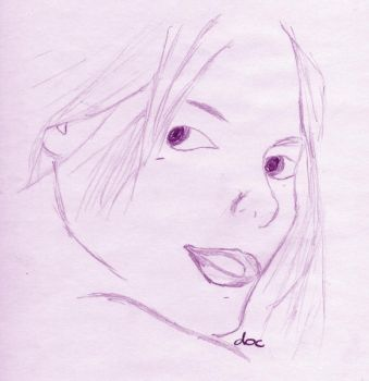 Sepia Girly Face by docscream
