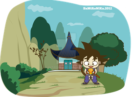 DRAGONBALL.. Gokuh in his house by SaMtRoNiKa
