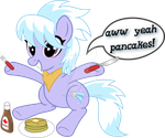 Cloudchaser and Pancakes (Vector) by UmbraVivens