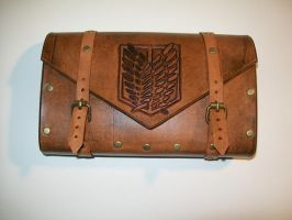Attack On Titan Tooled Leather Nintendo 3DS Case by DungeonsnDecorations