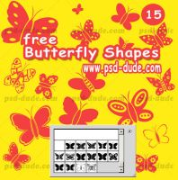 Butterfly Photoshop Shape by PsdDude