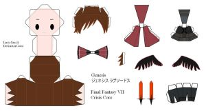 Final Fantasy VII Papercraft - Genesis by Larry-San