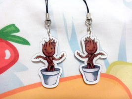 Groot acrylic charms by fluffyducky-plushie
