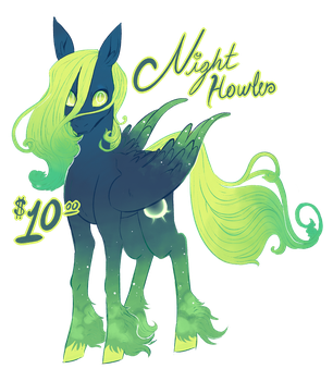 PONY ADOPTABLE - Night Howler CLOSED! by swanhili