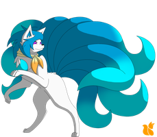 Foxblaze Ninetails concept 1 -Updated- by XNovafox
