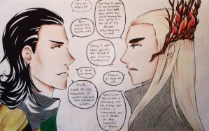 Sass-Off: Thranduil vs. Loki by DeadPOOL-PARTY