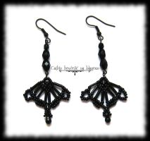 Gothic Princess earrings by Cayca