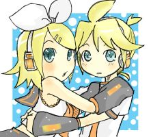 Rin and Len by OrangeLightning123